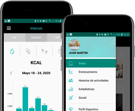 Lleva a tu entrenador en el móvil con nuestra app<strong>Inacua</strong>