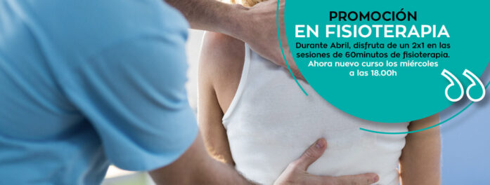 Promoción en fisioterapia Abril