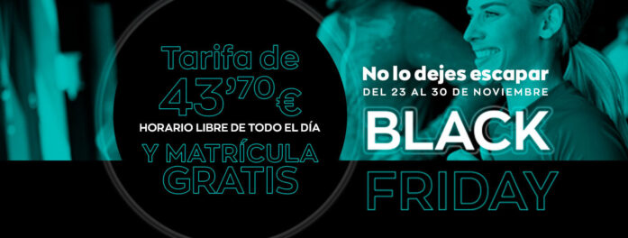 Black Friday –  Tarifa de 43,70€ horario libre y matrícula gratis