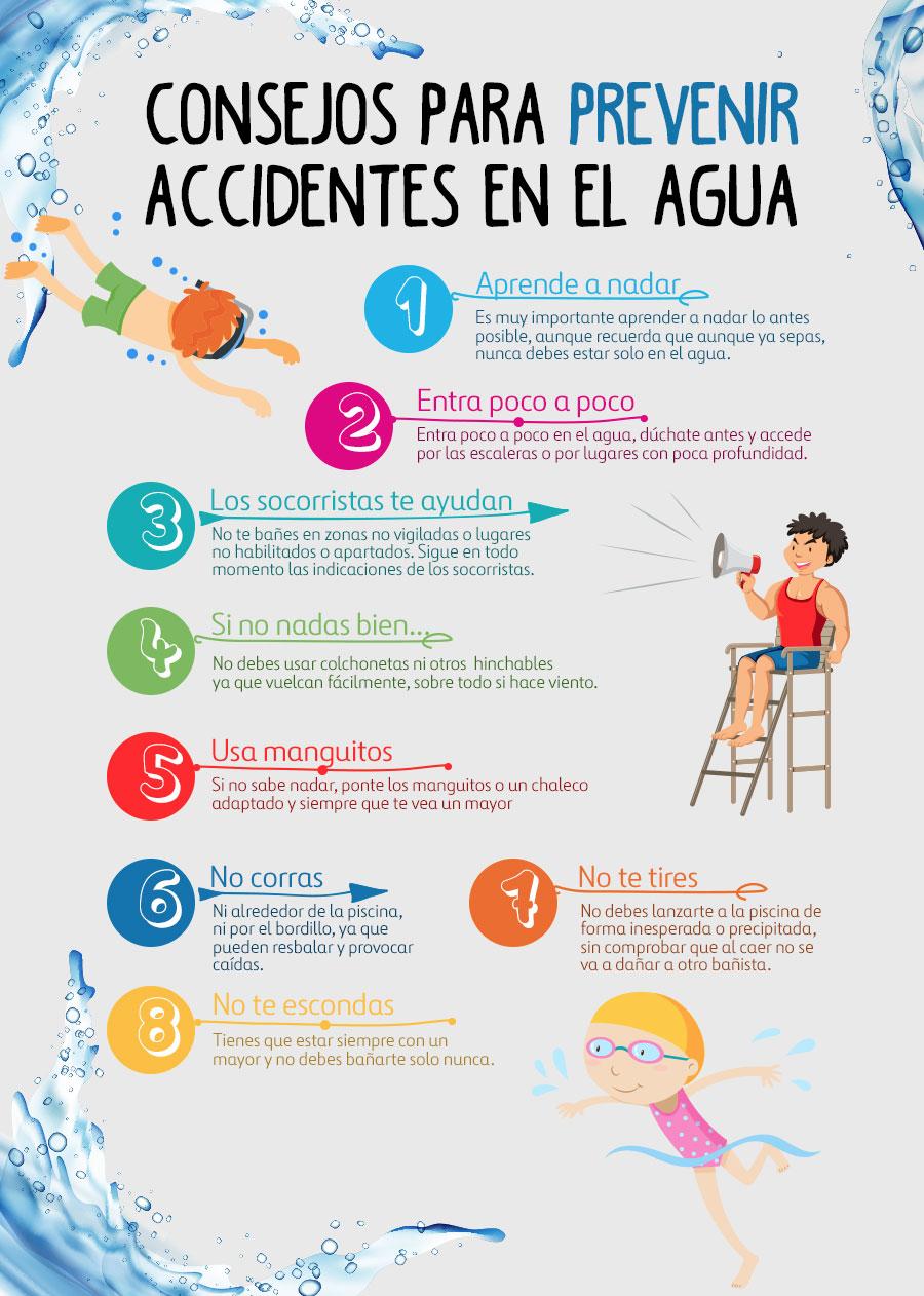 Consejor para prevenir accidentes en el agua