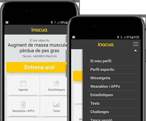 Porta el teu entrenador en el mòbil amb la nostra app <strong>Inacua</strong>